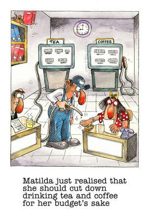 filling folder: Cartoon gag about office life