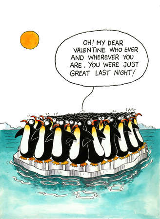 Cartoon about penguins