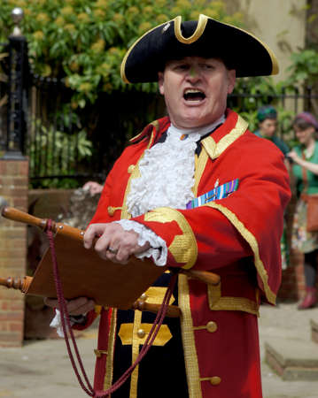 announcing: Town Crier announcing the news