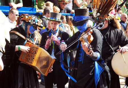 hastings: People play music in a carnival