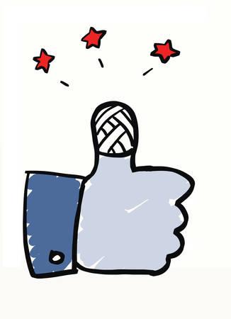 Social media security in a conceptul cartoon Illustration