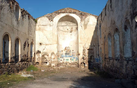 church ruins: Old church ruins with no roof