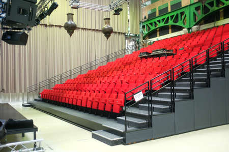 venue: Small performance venue with read seats Stock Photo