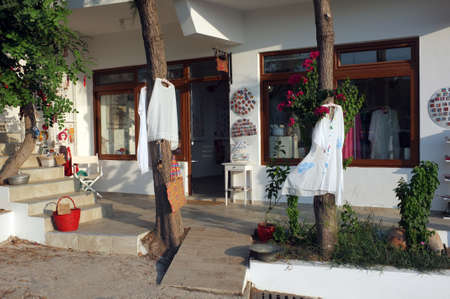 Front view of a summer gift shop