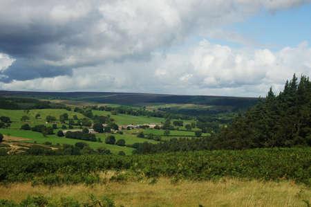 Landscape under cloudy sky in Yorkshire Zdjęcie Seryjne