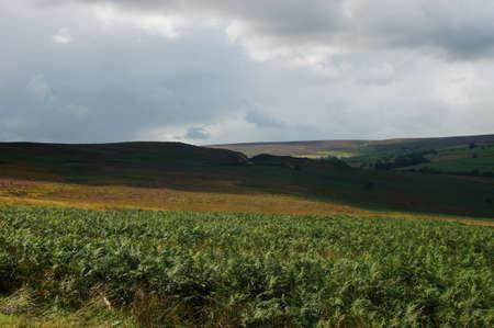 Landscape under clouds in Yorkshire