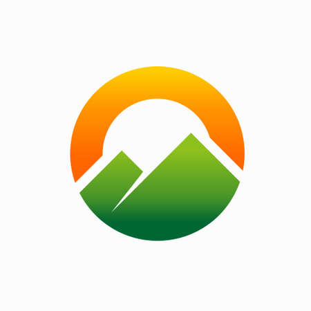 Outdoor logo formed letter O