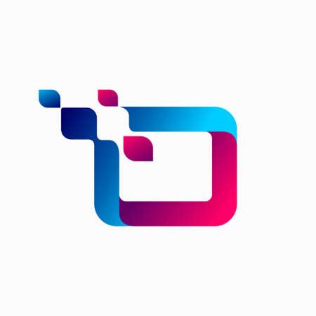 letter o logo design, technology logo design
