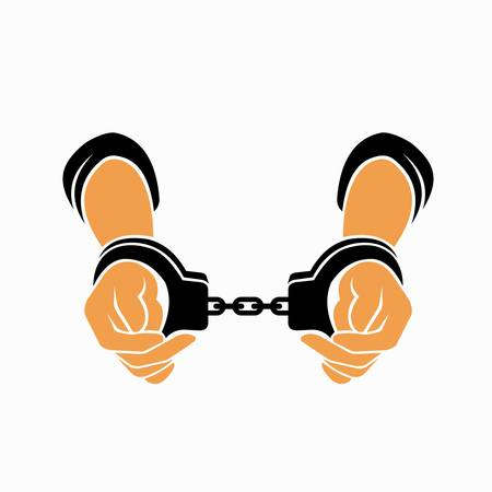 hand being handcuffed template logo