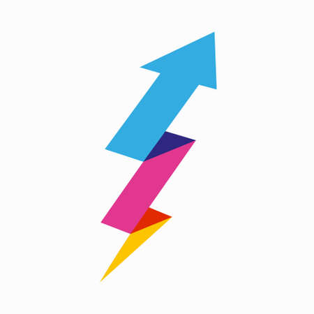 Sharp arrows up logo design