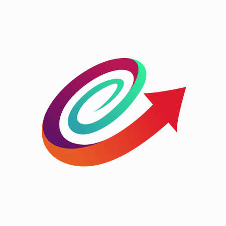 Arrow logo forms a spiral concept