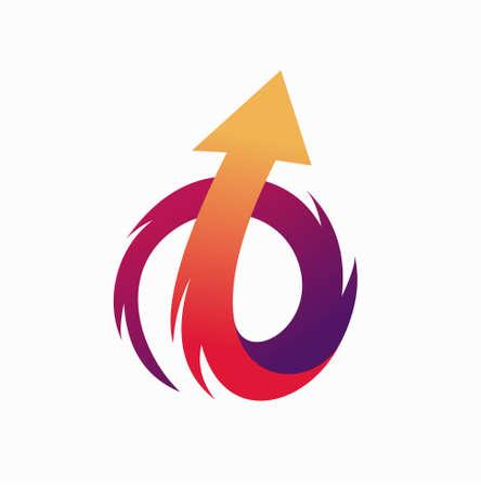 Arrow logo forms a spiral concept Logo