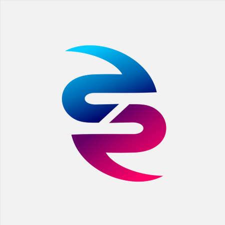 Letter SR Logo design Logó
