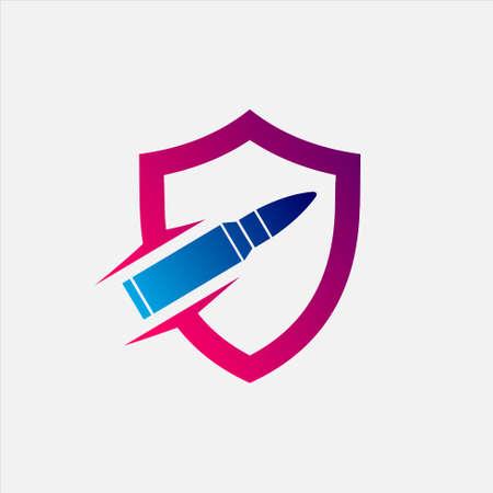 Bullet Shield Logo 向量圖像