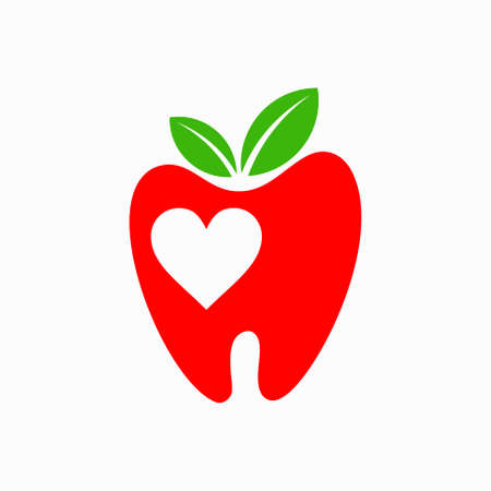 tooth logo that forms apples