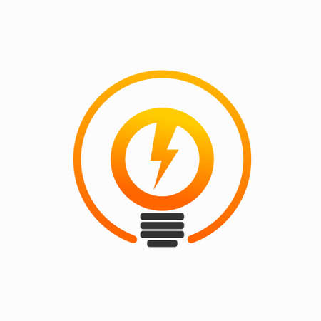 electric logo that forms the light bulb