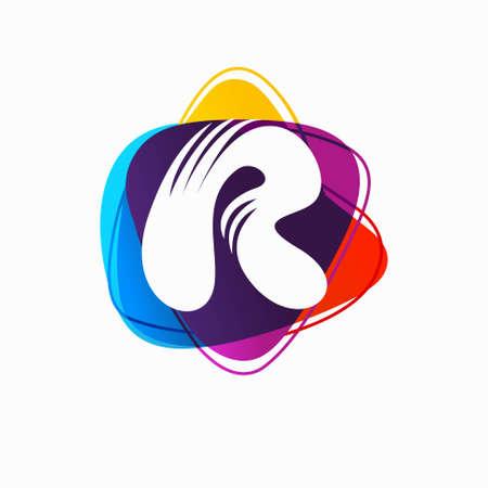 R Letter Logo Template Stock Illustration