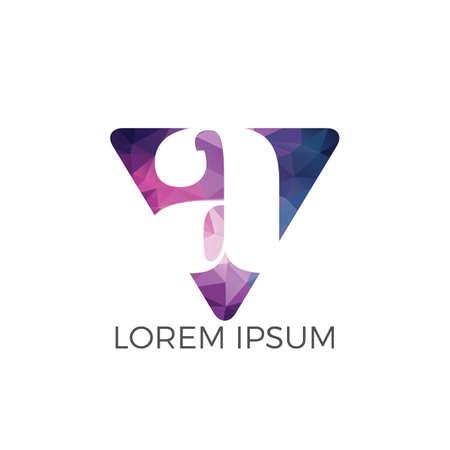 Lettera A logo design. Lettera iniziale Un design del logo aziendale. Marchio di qualità premium. Logo
