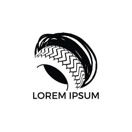 Tyre company or tyre shop vector logo design.