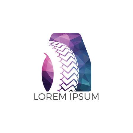 A letter logo car wheel logo design. Tyre company or tyre shop vector logo design.