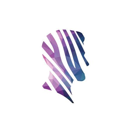 Elegant men's facial profile.