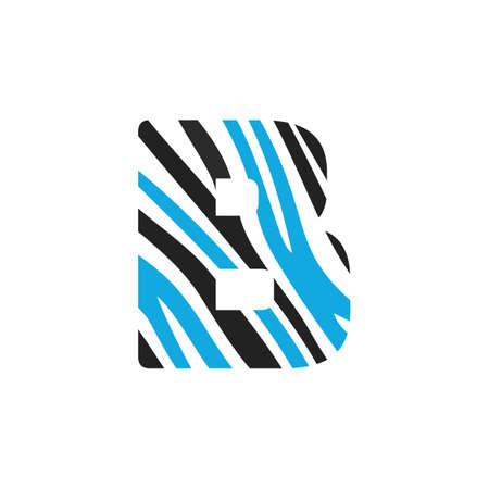 B letter design. Initial letter B  design. Illustration