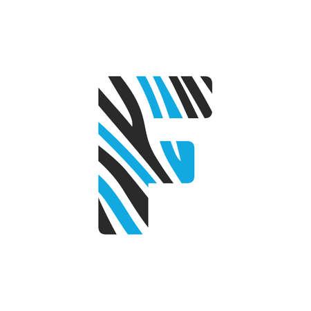 F letter design. Initial letter F design.