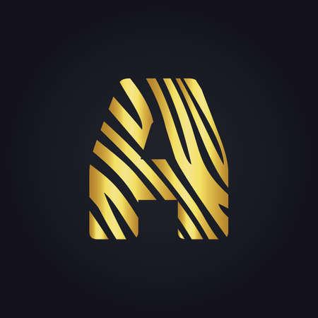 A letter design. Initial letter A design.