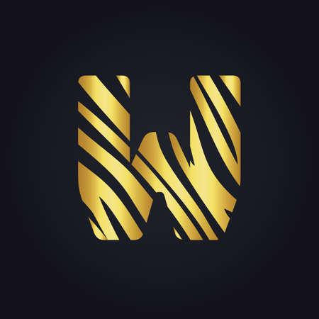 W letter design. Initial letter W design. Illustration