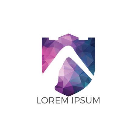 Projektowanie logo wektor góry. Logo turystyki. Znak podróży i przygody.