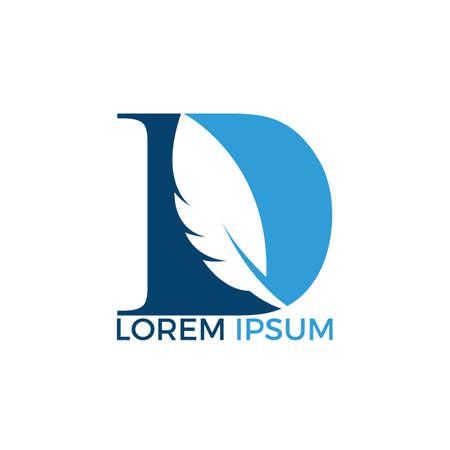 Pióro początkowe logo D. Logo