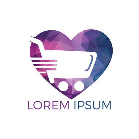 Shopping cart logo design. Best stores logo design. Best shop logo icon design
