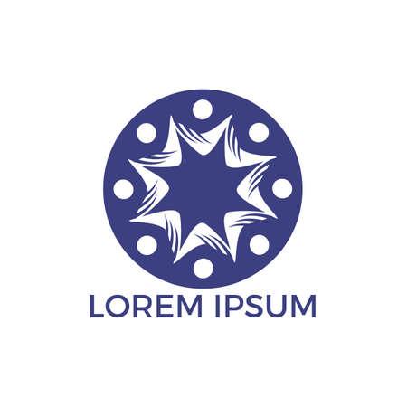 Community abstract logo. Happy People logo. Teamwork symbol. Social logo. Partnership people icon. Stock Vector - 122503397