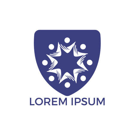Community abstract logo. Happy People logo. Teamwork symbol. Social logo. Partnership people icon. Stock Vector - 122503401