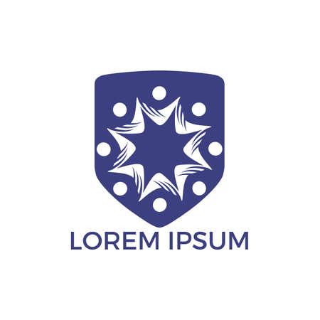 Community abstract logo. Happy People logo. Teamwork symbol. Social logo. Partnership people icon. Stock Vector - 122503469