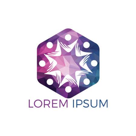 Community abstract logo. Happy People logo. Teamwork symbol. Social logo. Partnership people icon. Stock Vector - 122503483