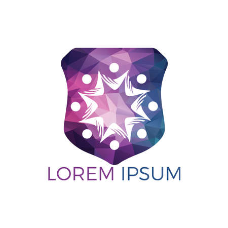 Community abstract logo. Happy People logo. Teamwork symbol. Social logo. Partnership people icon. Stock Vector - 122503491