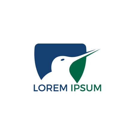 Kiwi bird vector logo design.