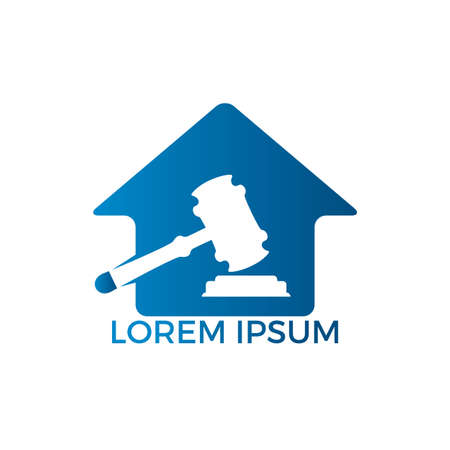 Law House icon Design. Property Law icon, Real estate and law symbol.
