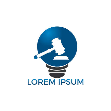 Light bulb and Gavel design. Education, legal services.