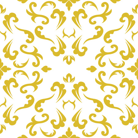 Damask seamless classic pattern. Vintage Baroque delicate background. Classic damask ornament for wallpapers, textile, fabric, wrapping, wedding invitation. Exquisite floral baroque template.