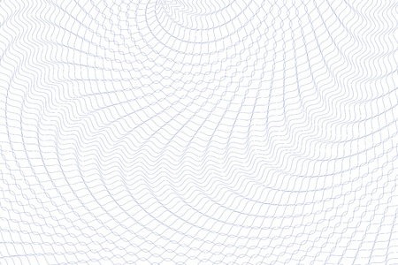 Guilloche background. Monochrome guilloche texture with waves. Original money pattern. For certificate, voucher, banknote, money design, currency, note, check, ticket, reward etc.