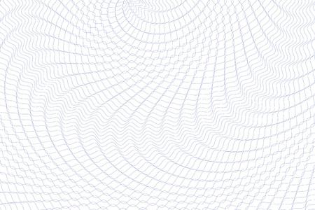 Guilloche achtergrond. Monochrome guilloche textuur met golven. Original geld patroon. Om een verklaring, voucher, bankbiljet, geld ontwerp, valuta, nota, kijk, ticket, te belonen etc. Stock Illustratie