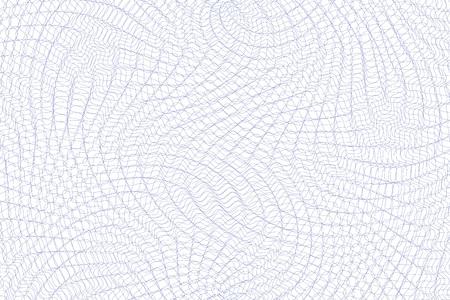 Guilloche tła. Monochrome giloszowego tekstury z falami. Oryginalny wzór pieniądze. Na świadectwie, kupon, banknot, projektowanie pieniędzy, waluty, uwaga, sprawdzić, bilet, nagradzać etc. Ilustracje wektorowe