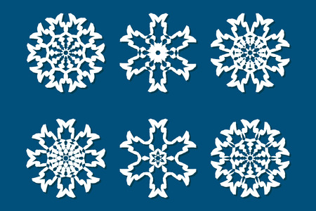 Snowflake Set Laser Cut Pattern For Christmas Paper Cards Wood New Snowflake Cutting Patterns