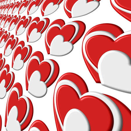 Scrolling Hearts Wall