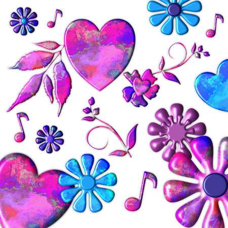 Groovy Grunge Heart Minstrels Stock Photo - 17916000