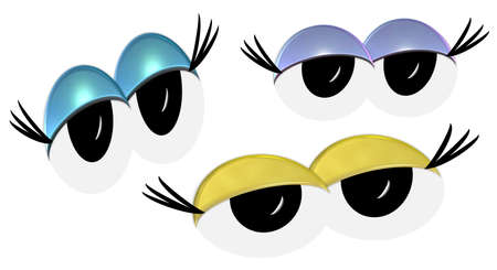 Cartoon Sleepy Eyes  Stock Photo