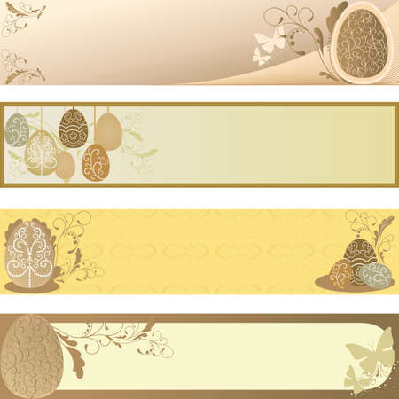 illustration of collection of Easter banners Vector