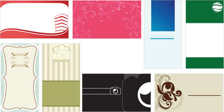 A vector illustration of a set of business cards templates for business professionals Çizim